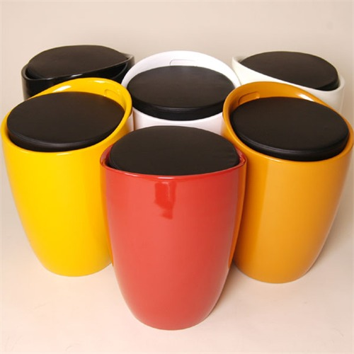 ... LOUNGE HOCKER VASE Design Moebel Retro Stuhl Tonne