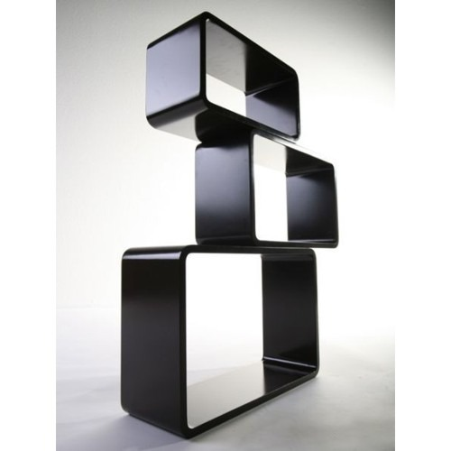 lounge design regal set space age retro cuben raumteiler tisch m bel schwarz ebay. Black Bedroom Furniture Sets. Home Design Ideas