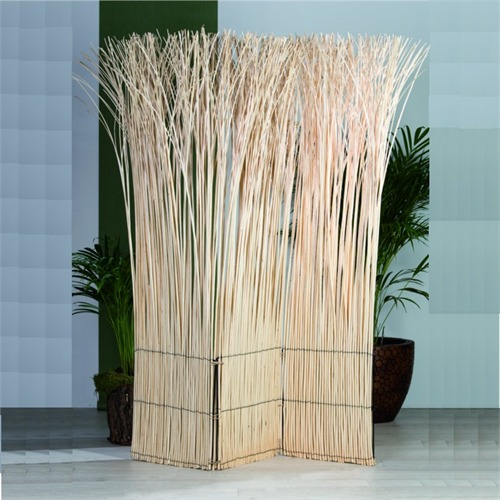 ROOM DIVIDER NATURE PARAVENT Folding Screen Bleached EBay