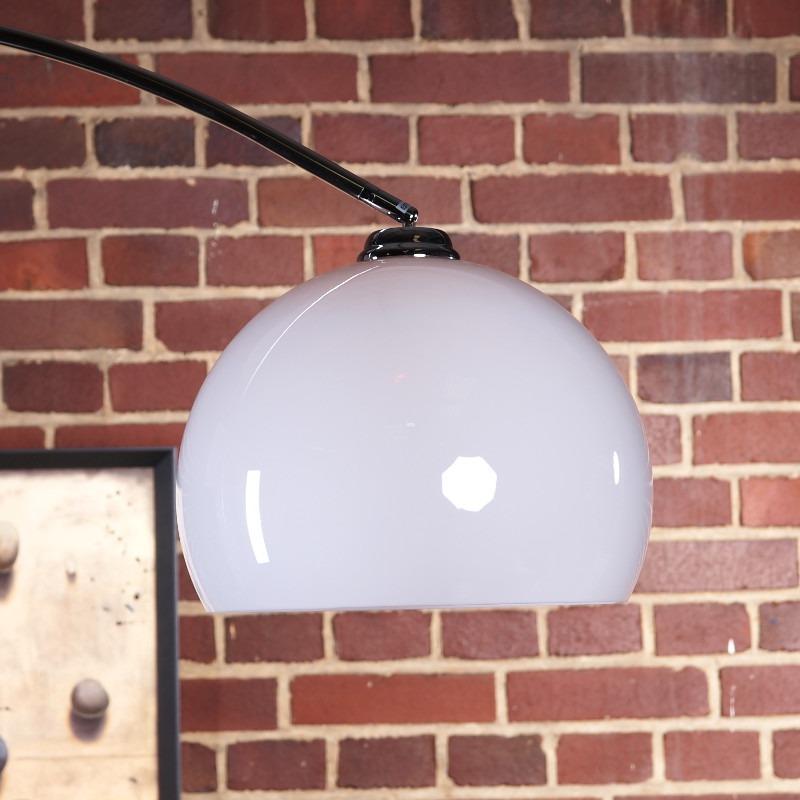 big bow retro design lampe mit marmorfu lounge stehlampe bogenlampe weiss ebay. Black Bedroom Furniture Sets. Home Design Ideas