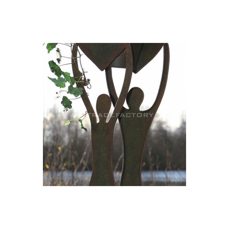 Design blumentopf skulptur liebespaar aus metall garten for Design blumentopf