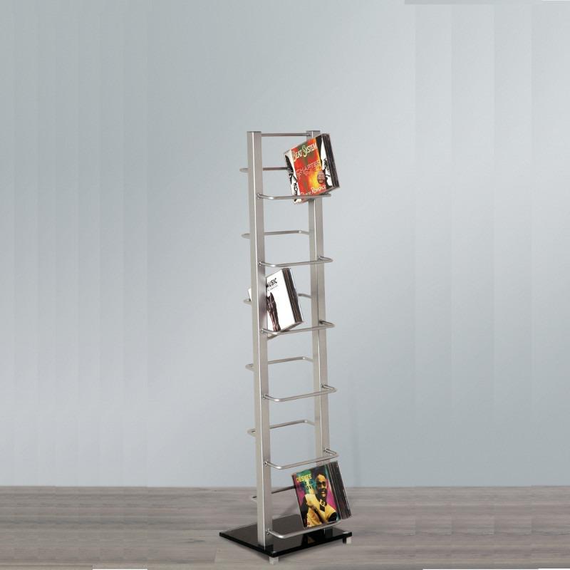 design cd st nder lounge regal glas metall kult rack 92 silber ebay. Black Bedroom Furniture Sets. Home Design Ideas
