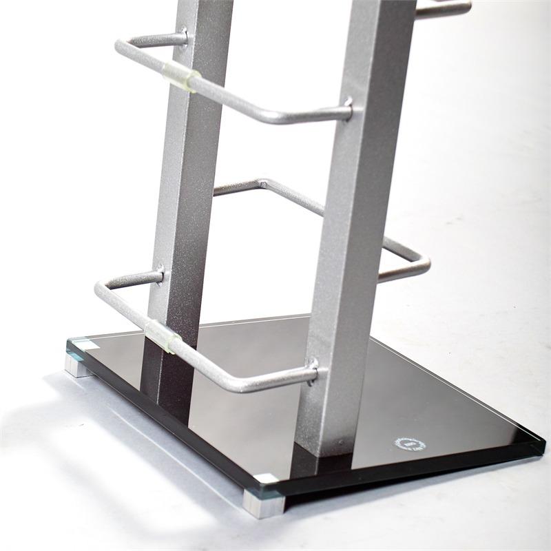 design cd st nder lounge regal glas metall kult rack 92. Black Bedroom Furniture Sets. Home Design Ideas