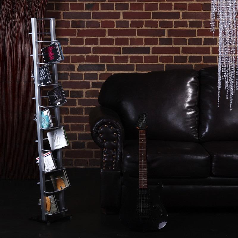design cd st nder lounge regal glas halter metall musik. Black Bedroom Furniture Sets. Home Design Ideas
