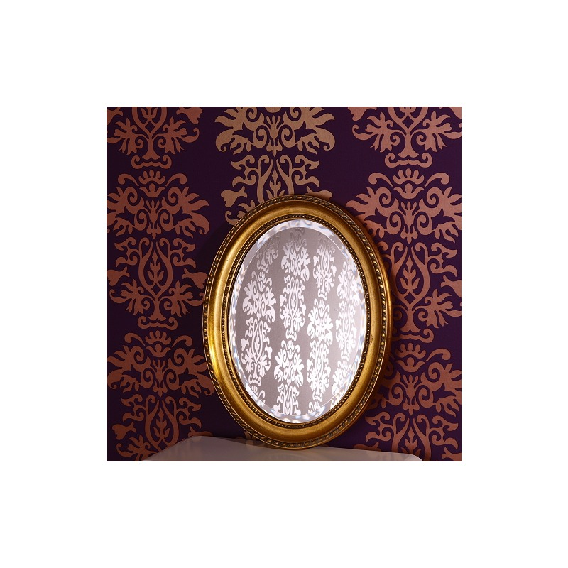 facetten spiegel oval barock rahmen wandspiegel gold ebay. Black Bedroom Furniture Sets. Home Design Ideas