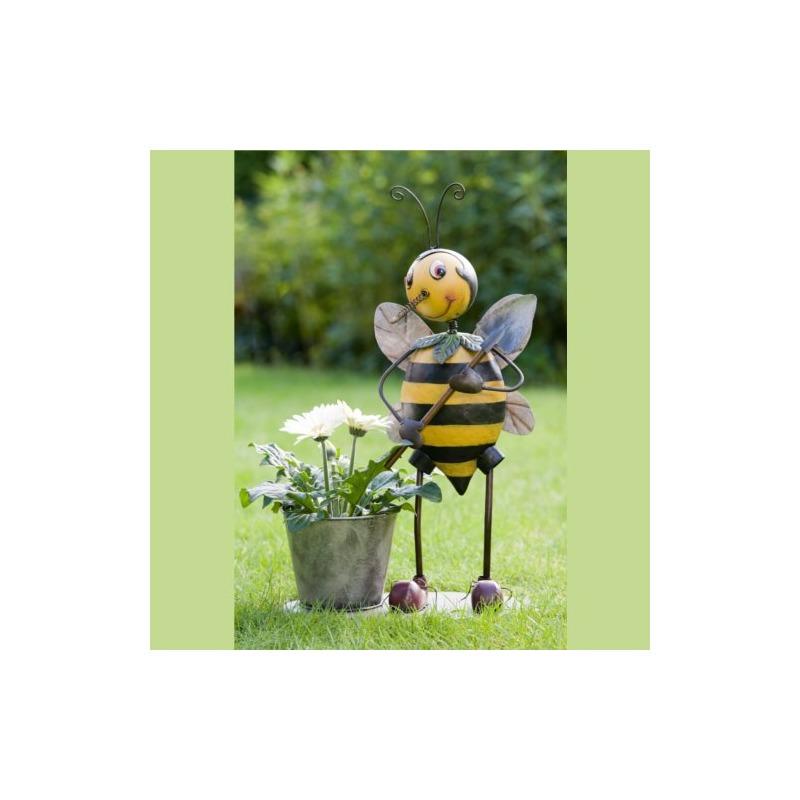 Blumentopf skulptur biene bibi garten blumen topf deko ebay for Garten blumen deko
