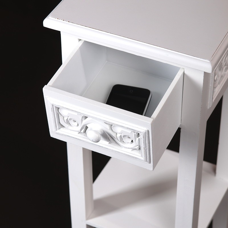 Designer Telephone Table Country Side Style White Washed