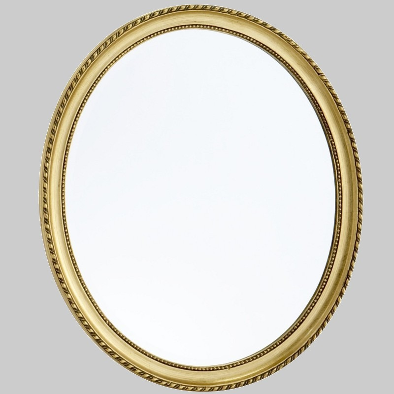 Oval baroque picture frame carved wood 70x60 cm mirror for Baroque oval mirror