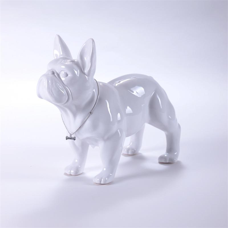 Kultige hundefigur franz sische bulldogge bulli skulptur hund keramik weiss ebay - Franzosische dekoration ...