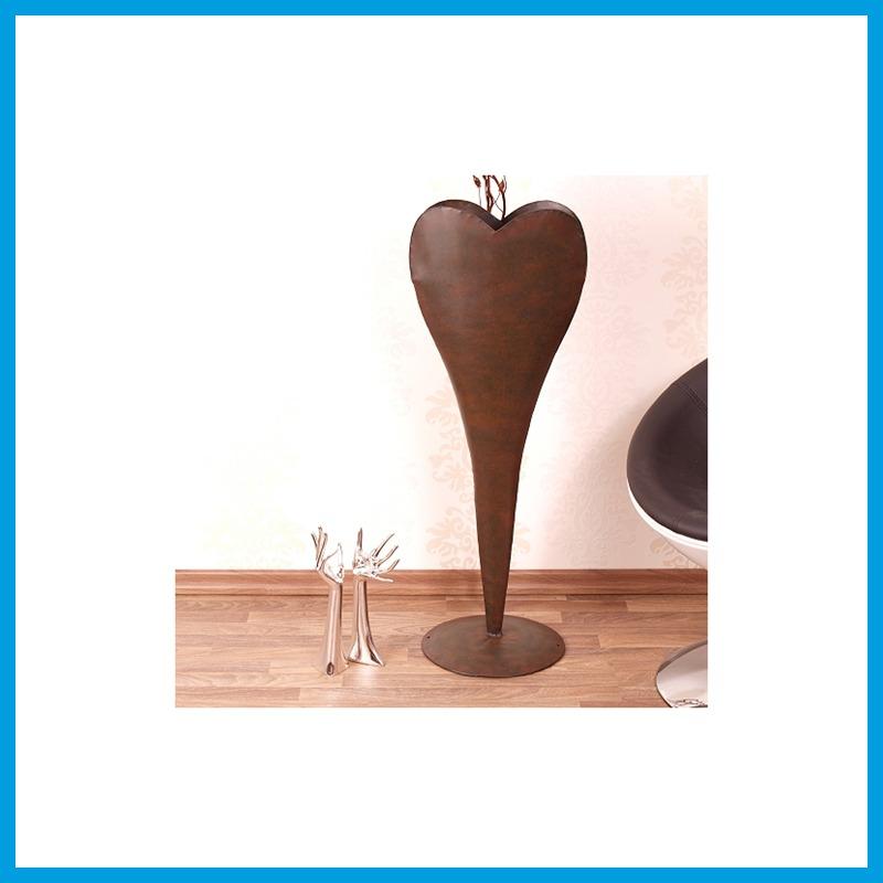 Blumentopf metall skulptur herz zur garten dekoration oder for Blumentopf dekoration