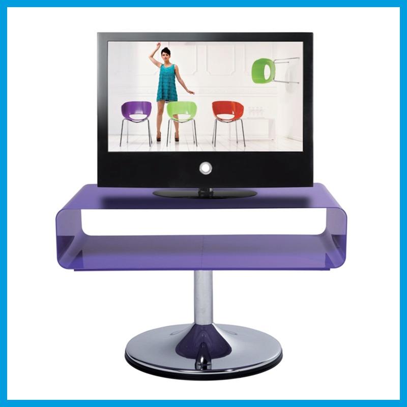 Lounge design tv tisch couch fernseher 70er violett ebay for Lounge tisch design