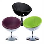 "Convenient Design bowl chair ""RETRO CLUB C13""  upholstered"