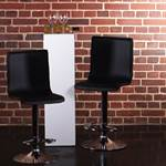 2 Design leather barstool lounge kitchen bar stool C80 black