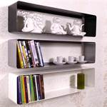 "Retro Design DVD & blue-ray shelf ""CUBE"" lounge wall rack"
