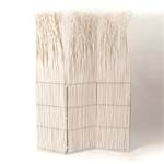 "Room divider ""NATURE"" paravent white willow wood folding screen"