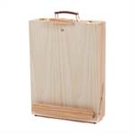 Portable wooden box sketch easel for artists with storage space