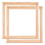 2 WOOD TRAY SHADOW GAP FRAMES FOR ARTIST CANVAS 80x80cm