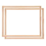 2 WOOD TRAY SHADOW GAP FRAMES FOR ARTIST CANVAS 40x50cm