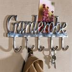 "FANCY WARDROBE ""GARDEROBE"" clothing hook coat hook aluminium silver"