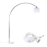 "Retro Lounge Design Stehlampe ""BIG BOW"" weiss mit Dimmer"