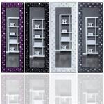 """Großer Wandspiegel """"GLAMOUR"""" 170 x 60 cm Spiegel mit Glitzersteinen"""
