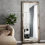 """Großer Wandspiegel """"ALESSANDRO"""" Barock Ankleidespiegel silber 185 cm"""