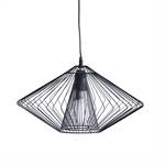 """Design Hängelampe """"WIRE"""" runde Lampe 28x45 cm Draht schwarz"""