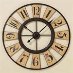 """Riesige runde Wanduhr """"STEEL"""" Ø80 Design Küchenuhr Wanddeko Uhr braun"""
