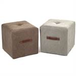 ELEGANT DESIGN CUBE SEAT CANVAS stool strong fabric cover 40x40cm