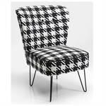 "Design chair ""JOSEFA"" padded chair armchair pepita pattern black/white"