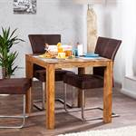 "Rustic bistro table ""SHEESHAM"" dining table 31.5"""