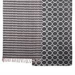 "Teppich ""RETRO"" grau-weiß gemustert | ca. 70x200 cm | Läufer"
