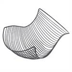 "Design fruit bowl ""SALOMON"" roll bread basket chromed silver"