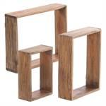 "3Pcs Decoration Shelf Set ""CUBES"" | recycled wood | wall shelves"