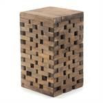 "Hocker ""BRICKS"" | 48x28cm (HxB), Recyclingholz | Holzhocker"
