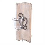 "Wall candle holder ""HEART""   42x22 cm, fir wood   wall decoration"