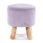 "Round stool ""LILAC"" | Ø 27 cm, H 28 cm, lilac | footstool"