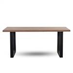 MASSIV WOOD EATING TABLE BROADWAY | ash wood, U-Profile steel frame