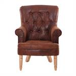 "Armchair ""BRIGHTON"" | vintage coffee, 37.5"" | Chesterfield chair"