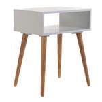 "Side table ""WOODSTOCK"" | oak, 21.5"", white/nature | nightstand"