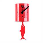 "Wall clock ""TIN FISH"" 
