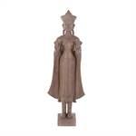 "Buddha Figur ""KARMA"" | Kunststein, 92 cm, hellbraun | Skulptur"