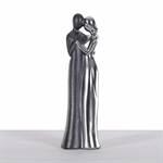 "DEKO FIGUR ""COUPLE"" | Kunststein, silber/schwarz, 35 cm | Skulptur"