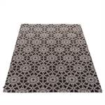 """Teppich """"SKANDIO""""   160x230 cm, weiß auf schwarz   Wohnzimmer"""
