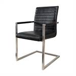 """Cantilever chair """"HOUSTON""""   artificial leather, black   dining chair"""