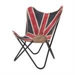 "Sessel ""UNION JACK"" | 95 cm, Leinen | britische Flagge"