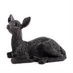 """Deko Figur """"REHKITZ LIEGEND""""   24 cm, braun, Kunststein   Rehfigur"""