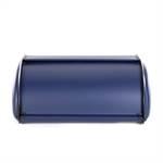 """Retro Design Brotkasten """"BROTKRUSTE""""   34 cm, blau   Brotbox"""