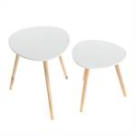 "Set of 2 side tables ""GOTLAND"" 