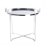 "Sofa table ""ORIENTAL""   metal, silver coloured   livingroom table"